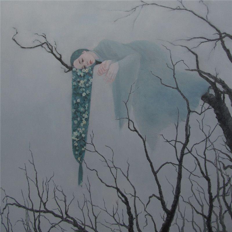 Yan Xiaoqian 颜小倩 (Chinese, b. 1985, Jiangsu, Sihong County, Zhejiang Province, China) - In Love No.1, 2013 Paintings: Oil on Canvas