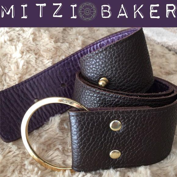 Beautiful Bi Color Leather Belt With Pouch Mitzi Baker Handbag Designer Interior And