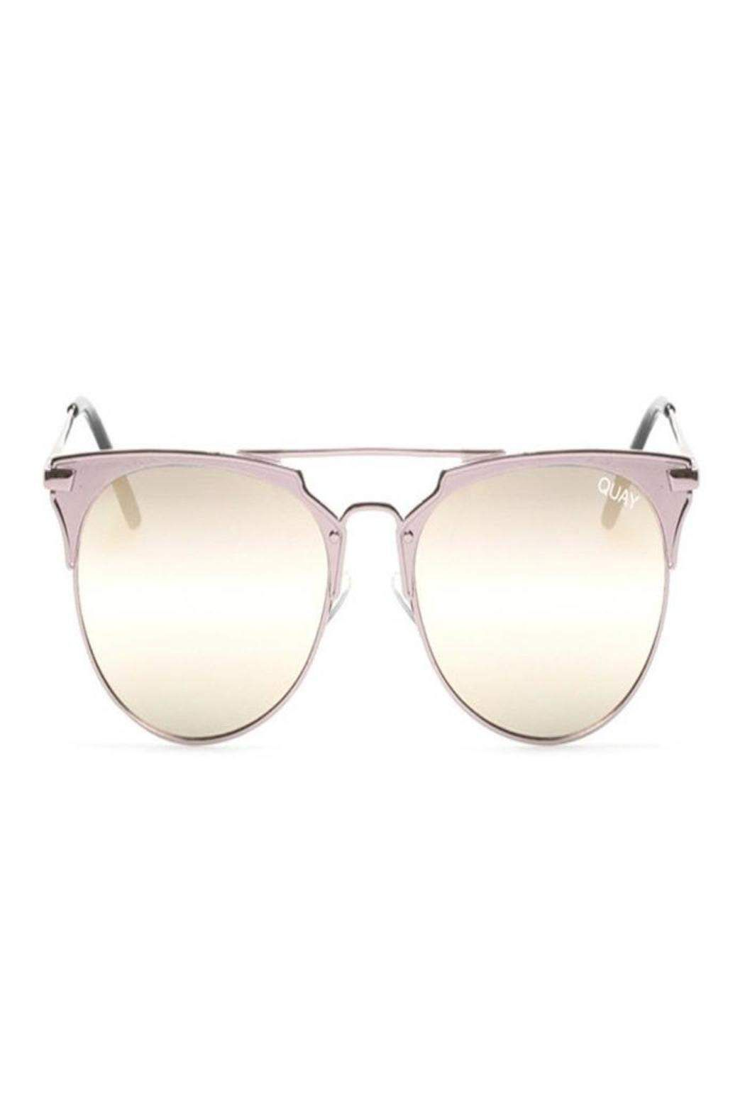 b23ec27c96 Limited edition Quay Australia sunglasses. Mirrored rose gold lenses with  stainless steel hinges. Nickel free metal frame. UV protection