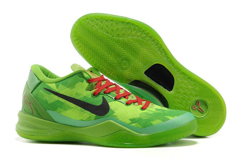 new concept 94299 26969 Kobe 8 Christmas Grinch Green Red Black 555035 701