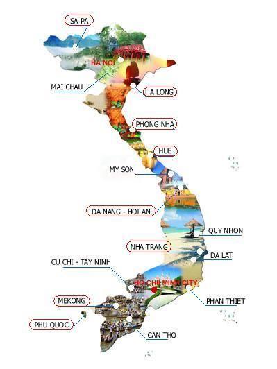 Mustsee Places In Vietnam Vietnam Travel Guide Httpvietnam - Map of vietnam