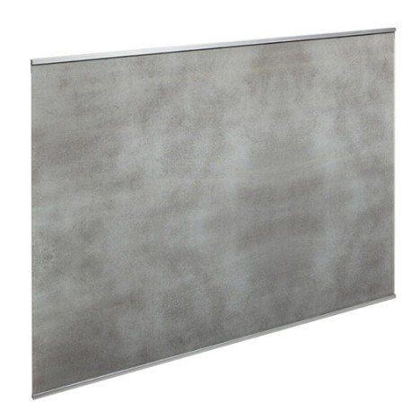 Fond de hotte verre Décor béton H70 cm x L60 cm cuisine Pinterest - hotte de cuisine  cm