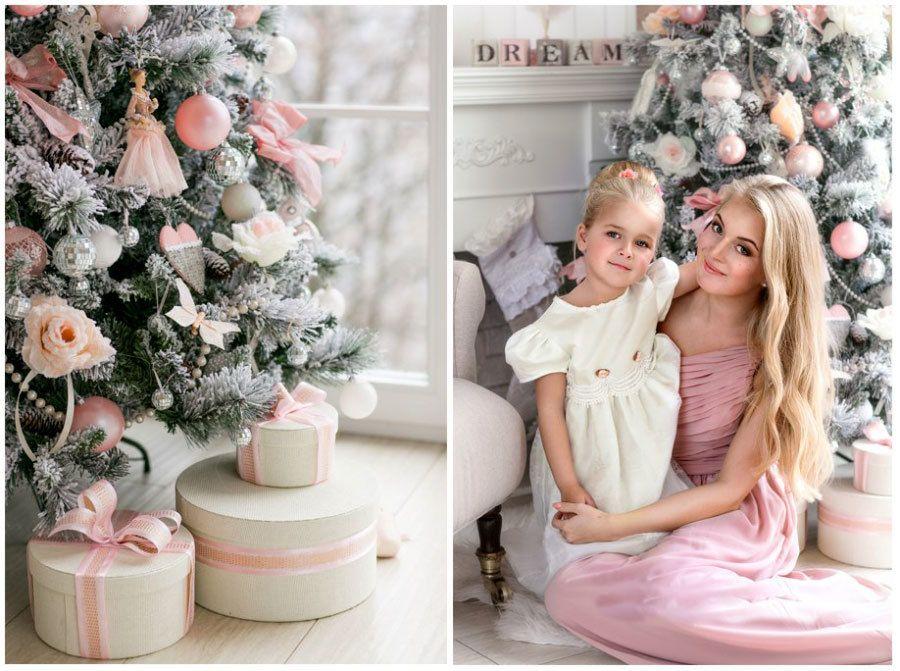 Картинки мама с дочкой новый год