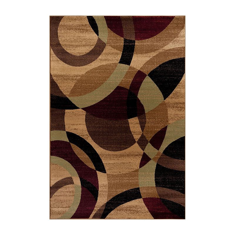 World Rug Gallery Contemporary Modern Circles Abstract Rugs Abstract Rug Rug Gallery Area Rugs