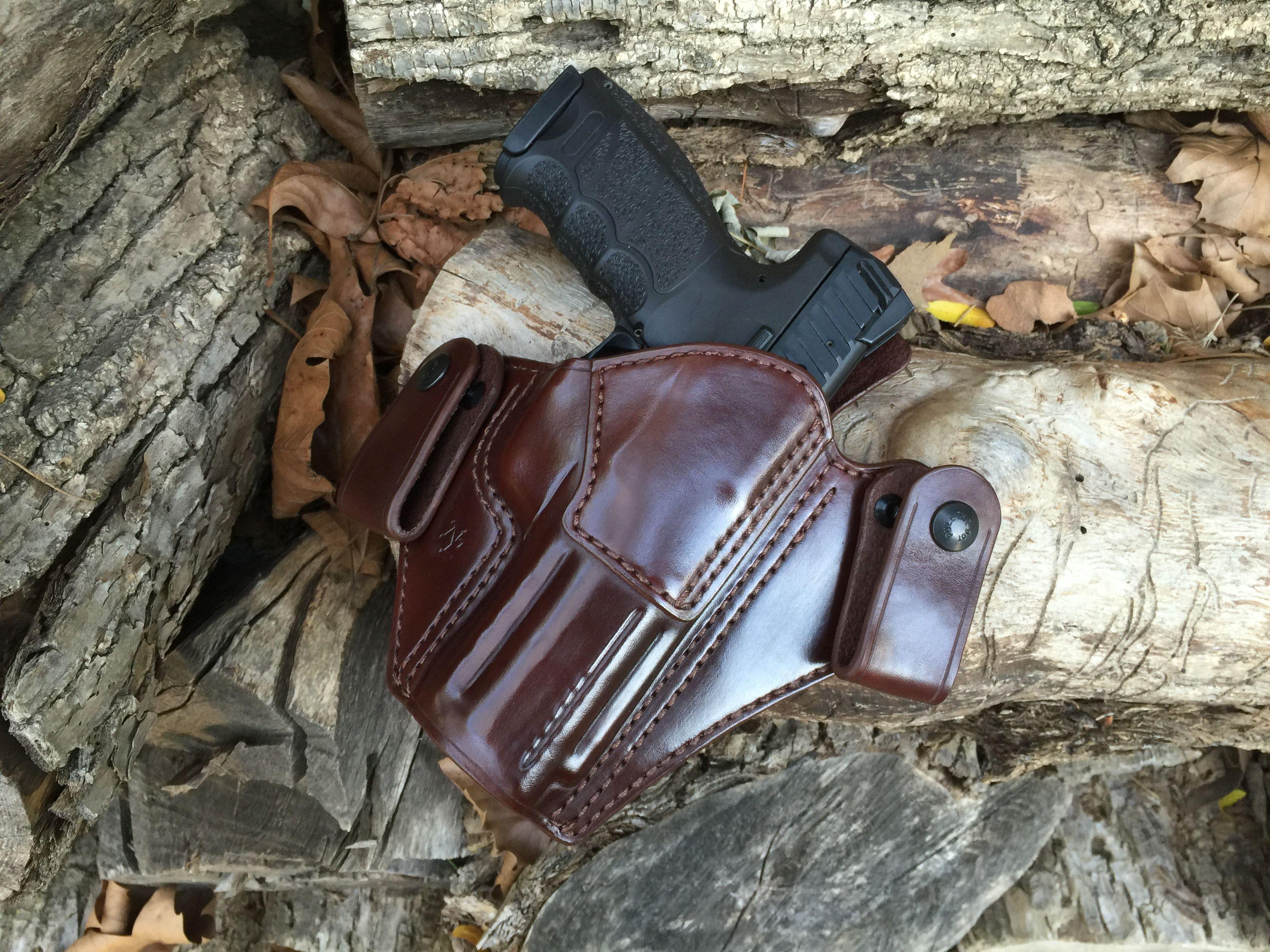 Nightingale Leather HK VP9 Peregrine IWB Holster~ Brown Cowhide~Brown Stitching