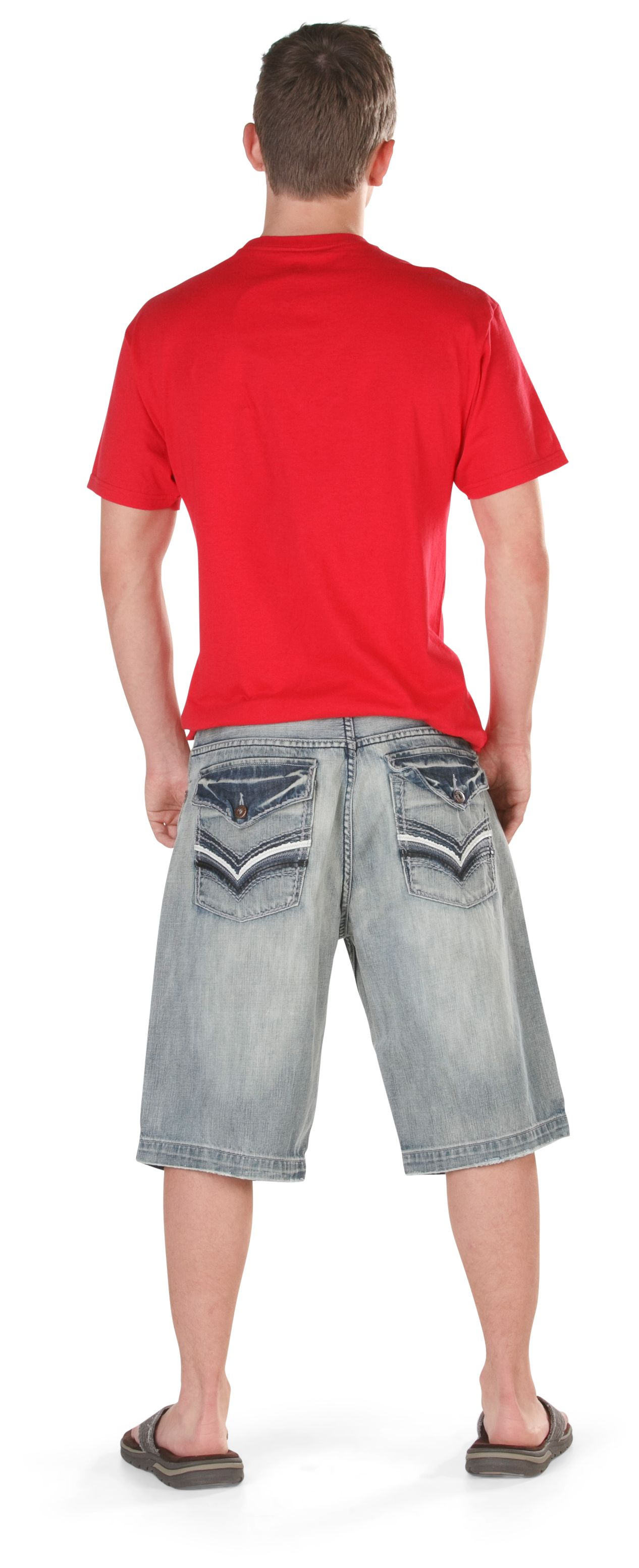 He'll love the light wash and cool back pocket styling of these shorts. #gordmans #youngmens #style #jeansplease