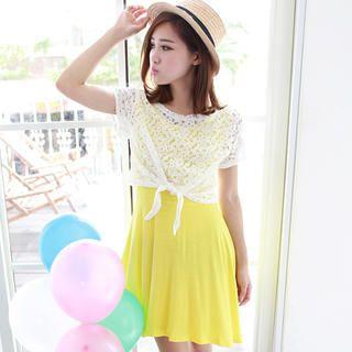 eFashion - Set: Lace Top + Tank Dress
