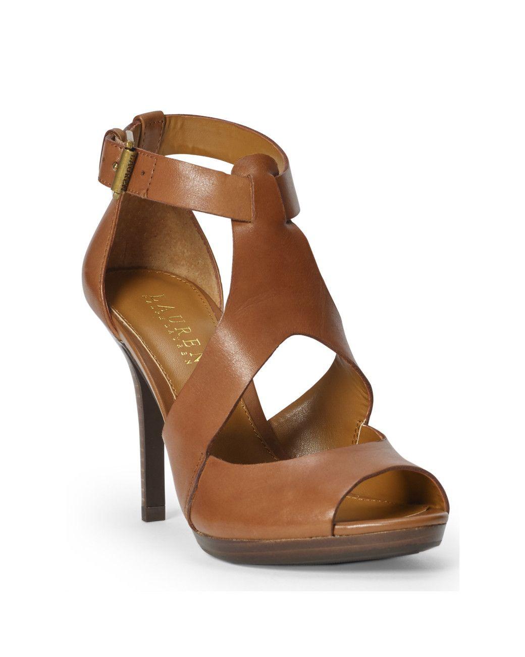 LAUREN by Ralph Lauren Womens Beth Peep Toe Ankle Strap Dorsay Black Size 7.0