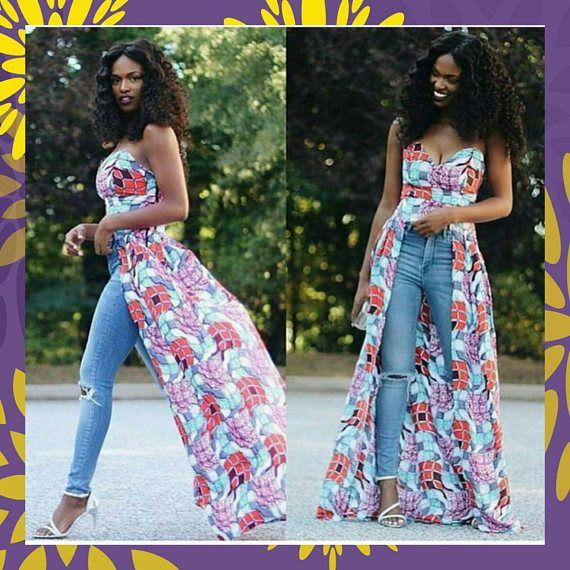 86bdf003b84e32 Tube Dress Top, African Top, African Clothing, African Fashion, Women's  Clothing, African Print Top, Ankara Print Top
