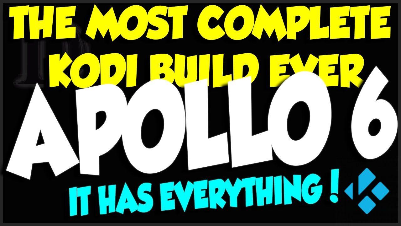 Apollo Build V6 The Most Complete Build For Kodi 2016 Edition Kodi Kodi Builds Apollo