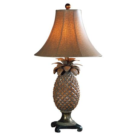 Found It At Wayfair Anana Pineapple Table Lamp In Brown