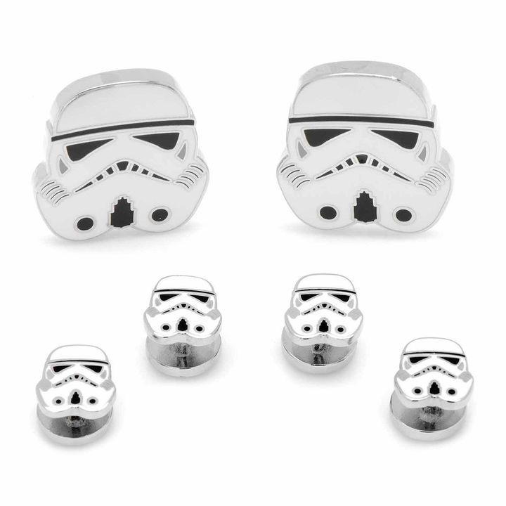 STARWARS Star Wars Storm Trooper Stud & Cuff Links Gift Set 2DdgM