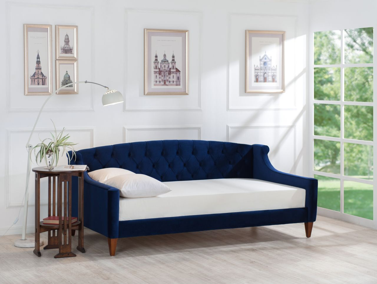 Lucy Upholstered Sofa Bed Navy Blue Upholstered Sofa Bed Upholstered Sofa Sofa