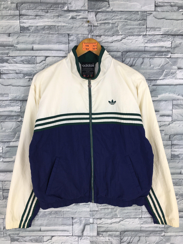 Vintage Adidas Windbreaker 80s 90s Size S Trefoil 3 Stripes