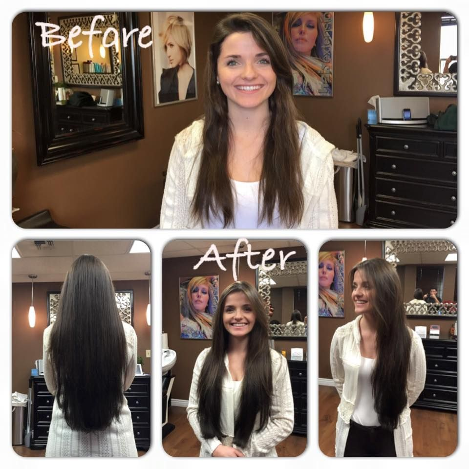 Before And After These Are Great Lengths Bonded 24 Inch Hair