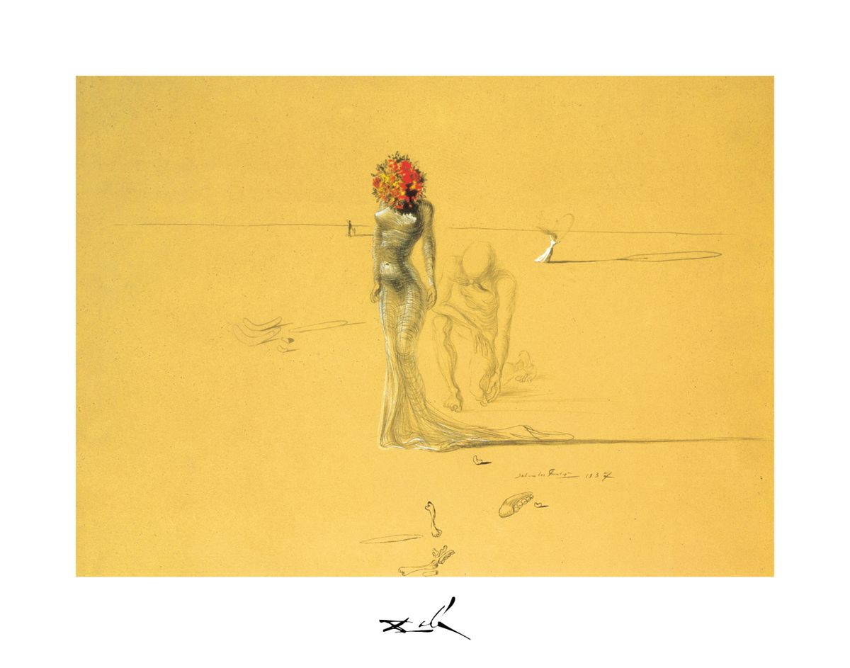 Female Figure with Head of Flowers, Dalí.   MASTERS OF ART ...