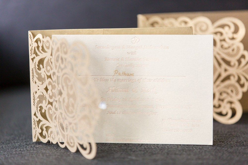 White and Cream Wedding Invitations | South Asian Wedding Blog ...