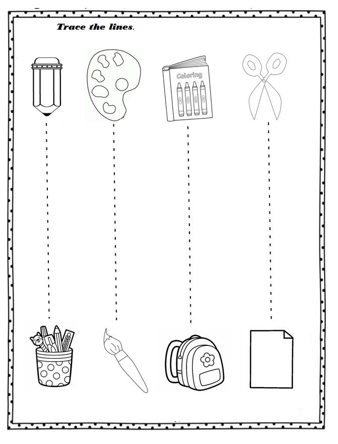Free Printable Back To School Worksheet For Preschoolers – Crafts And  Worksheets F… Back To School Worksheets, Preschool Worksheets, Preschool  Learning Activities