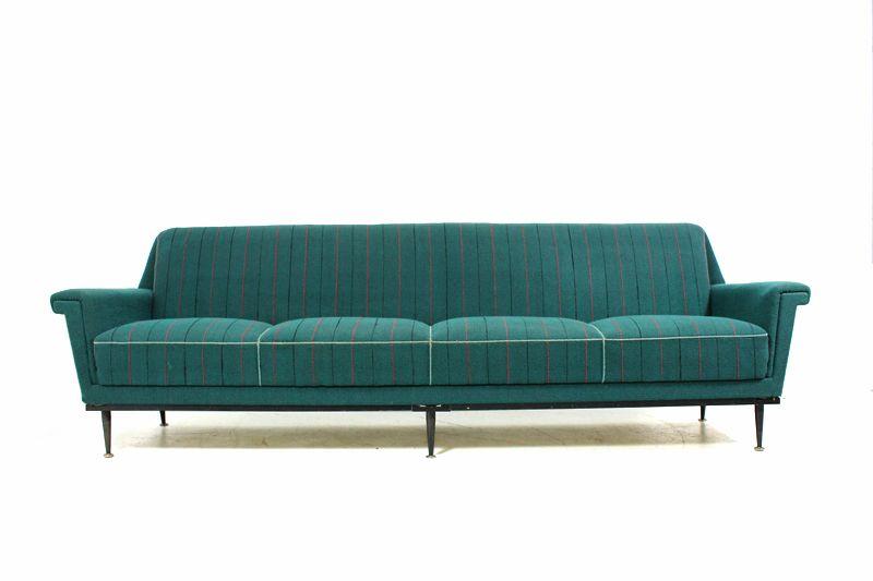 60er Sofa im Zanuso / Kagan / Parisi Stil l mid ventury modern l Vintage l 50er l frei stellbar ca. 250cm breit
