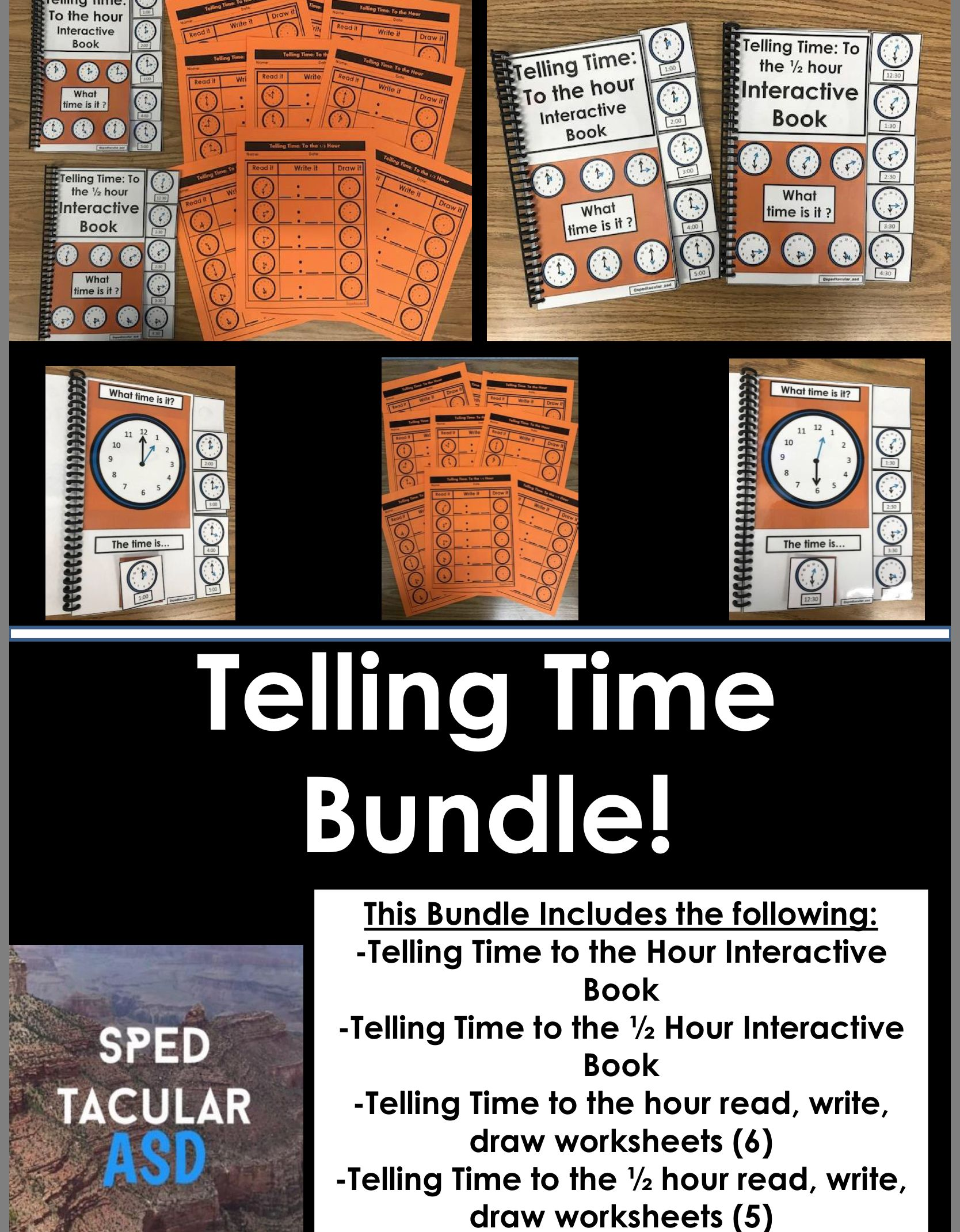 Telling Time Bundle Interactive Books Interactive