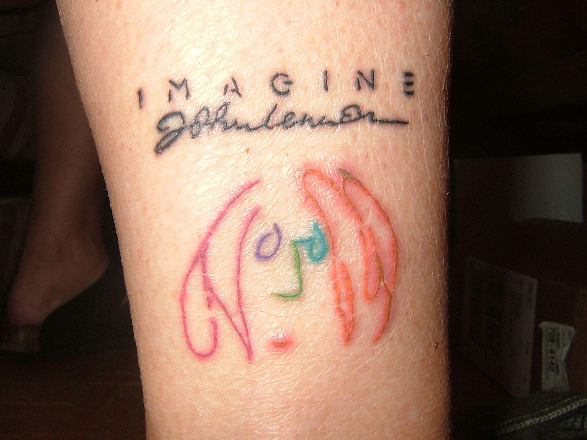 Mine I Love It John Lennon Self Portrait Cover Of Imagine Album Beatles Tattoo Jasmine Flower Tattoos Tattoos Inspirational Tattoos