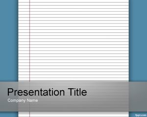 Free Lined Paper Powerpoint Template Background For Educational