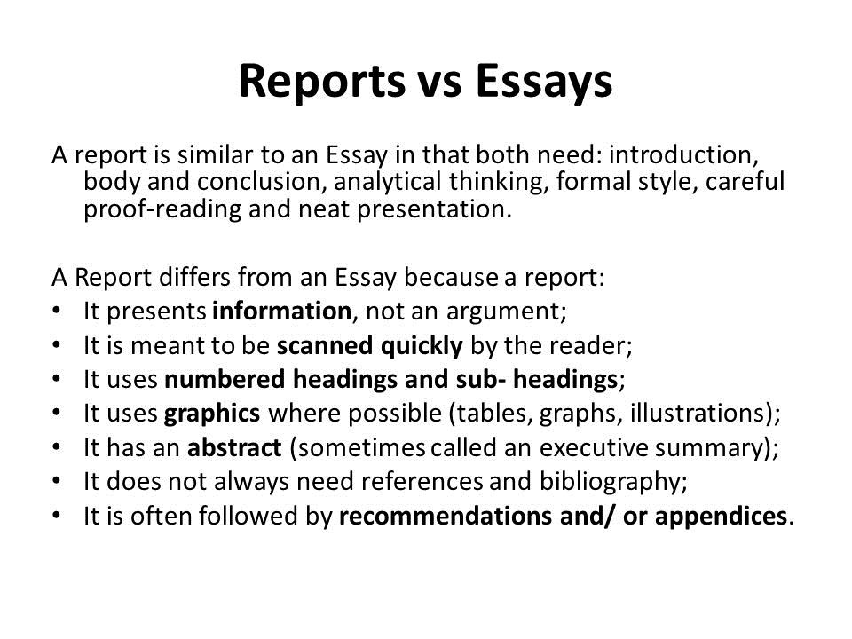 What is the Difference between Essays and Reports? | Research Prospect