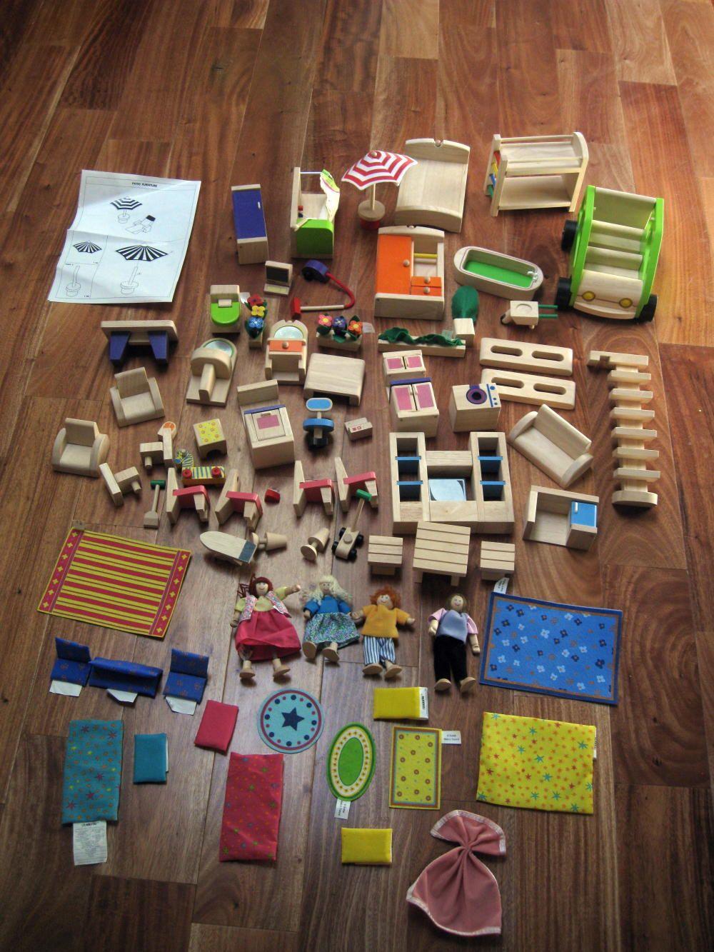 Mint Huge Lot 70 Battat Wooden Dollhouse Furniture Accessories