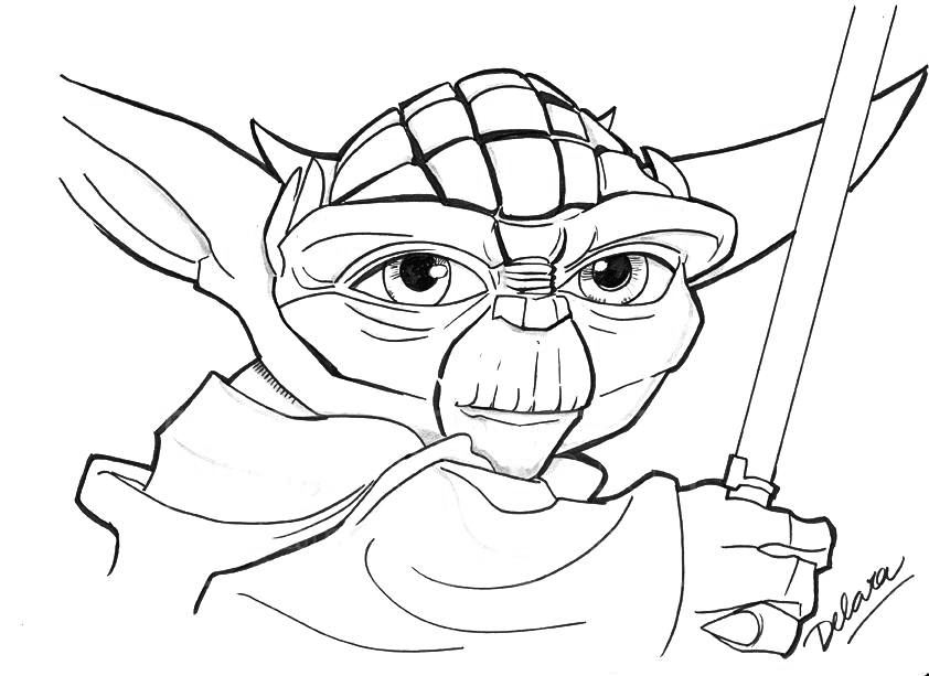 Yoda Coloring Pages Coloring pages for kids, Coloring