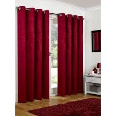 66x72in 168x183cm Cranberry Red Blackout Eyelet Curtains