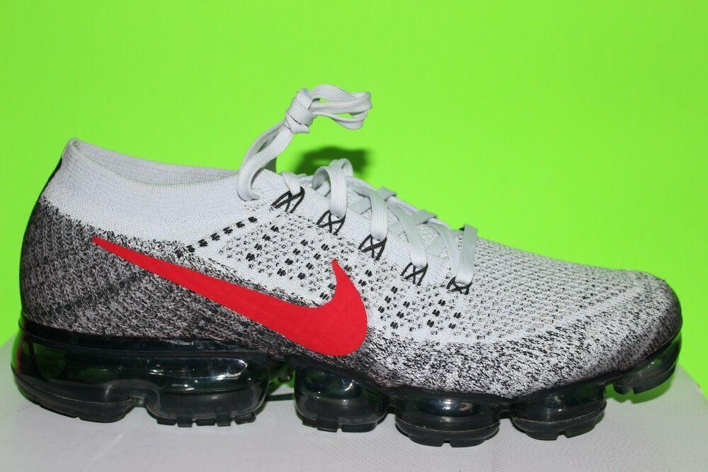 online store 0fc52 34d22 Mens Nike Air Vapormax Flyknit sz 10,5 Platinum Red running, athletic