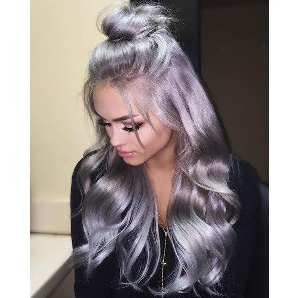 Bright Silver Pink Melting Hair Colorswigs And Hair Extensions