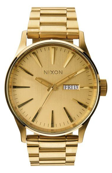 NIXON Sentry Bracelet Watch, 42mm. #nixon #