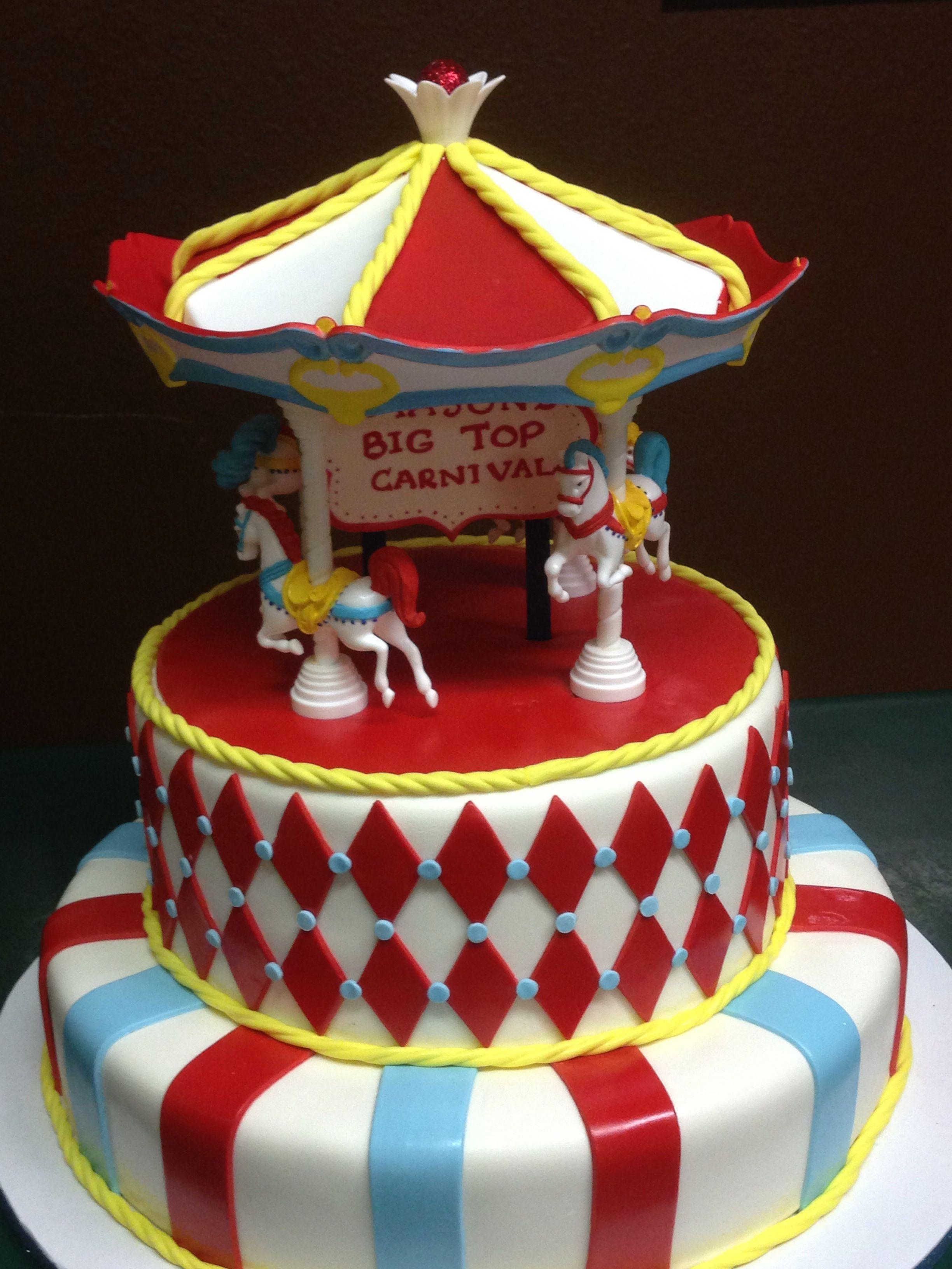 Circus carnival birthday cake by cake designs las vegas