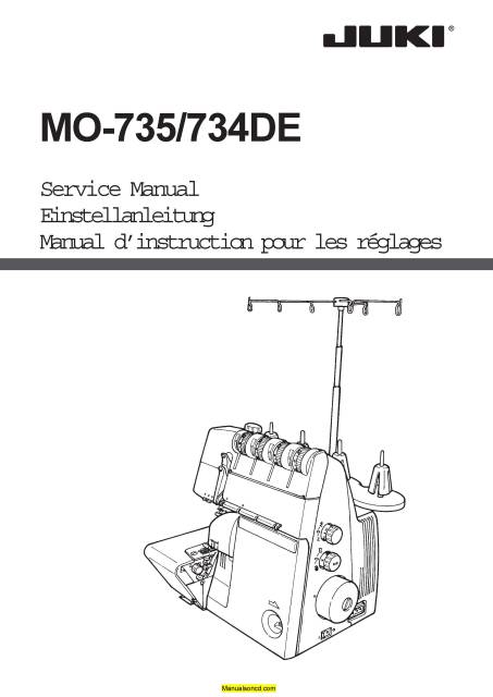 Juki Mo 735 734de Sewing Machine Service Parts Manual In 2020