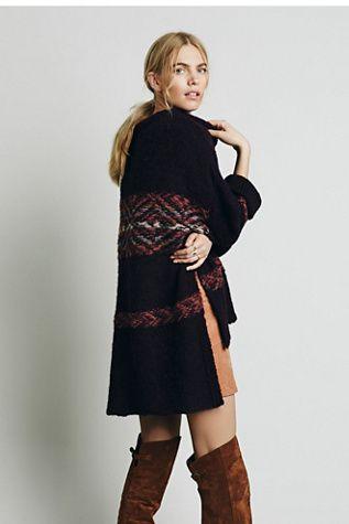 Free People Womens Alpaca Fairisle Tunic Sweater | Clothing and ...