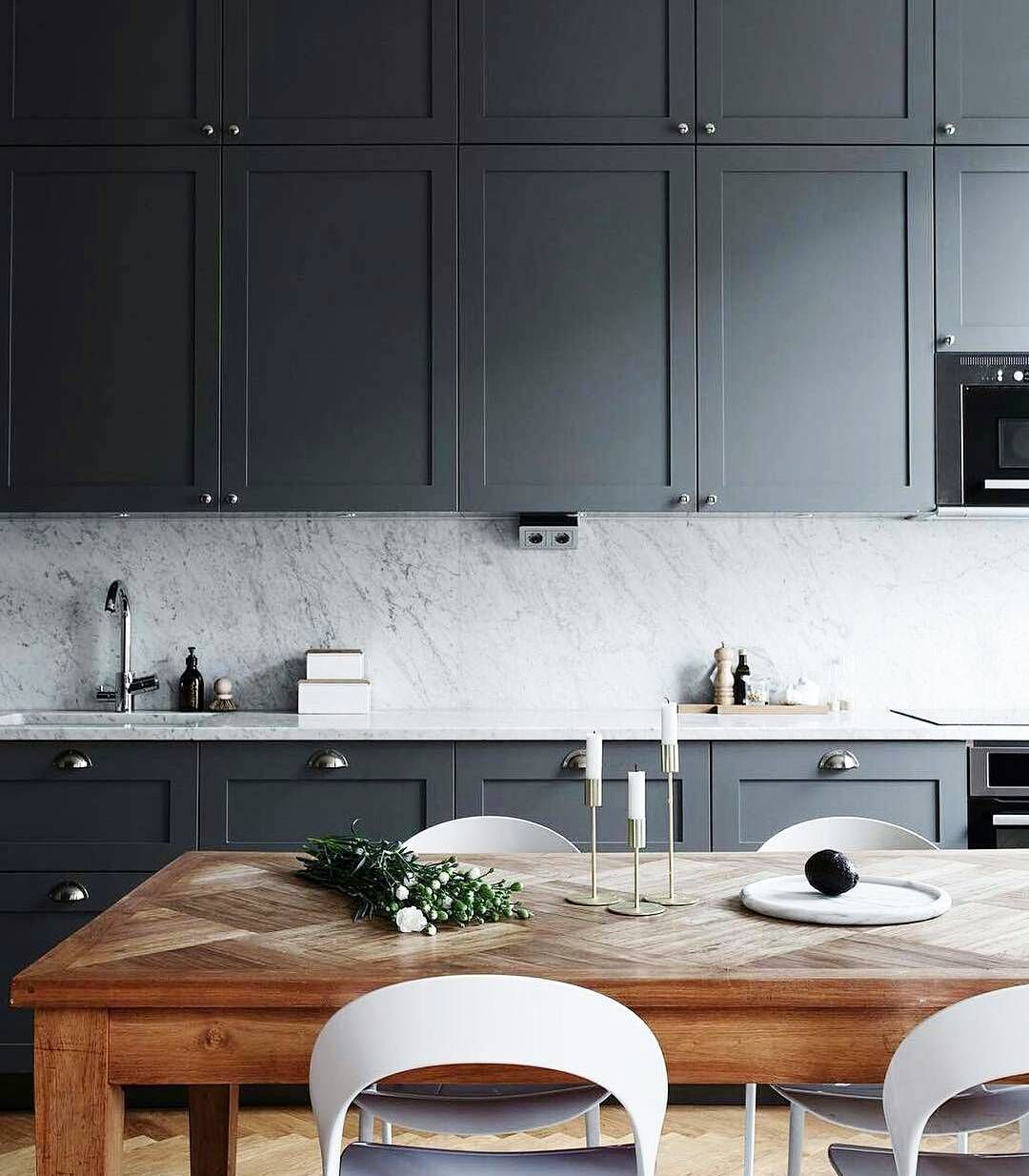 Matte charcoal gray cabinets dark cabinets never looked for Muebles de cocina tien 21