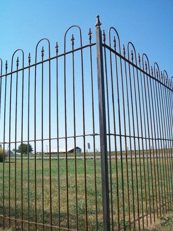 6 Tall Interlocking Solid Steel Fence Panels Wrought Iron Yard