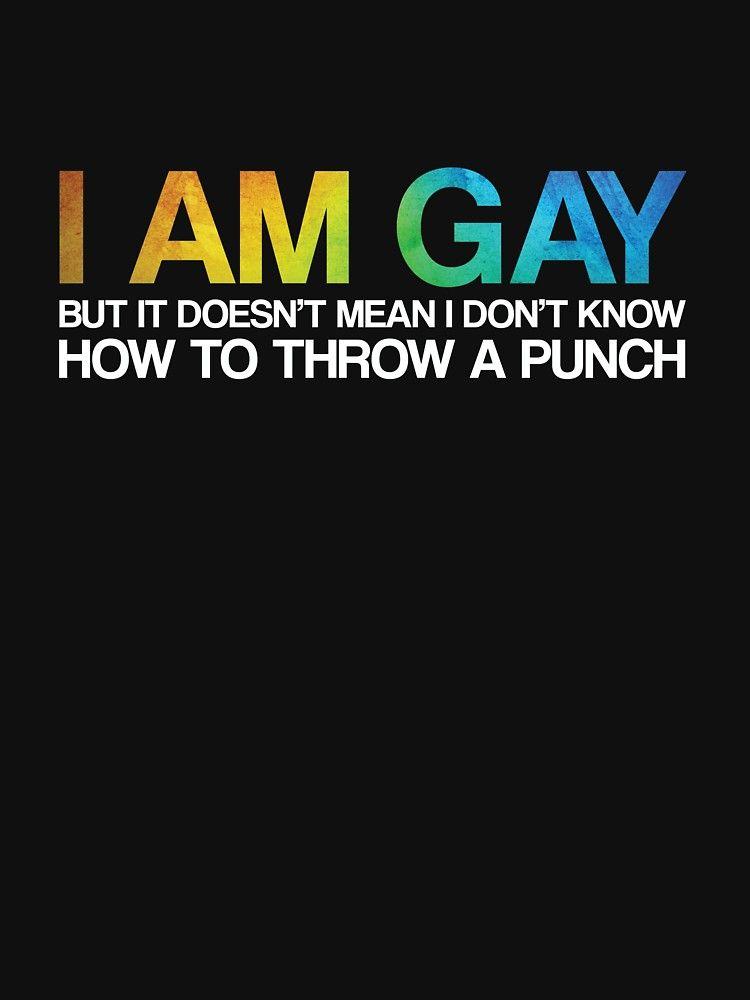 9b7cd25ff I'm Gay Rights Homosexual Lesbian Rainbow LGBT Pride Gift | Slim Fit ...
