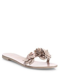 Limited Edition Cheap Price SOPHIA WEBSTER Lilico floral-embellished leather slides With Paypal Low Price Shop Sale Online Free Shipping Official 36Zmkah