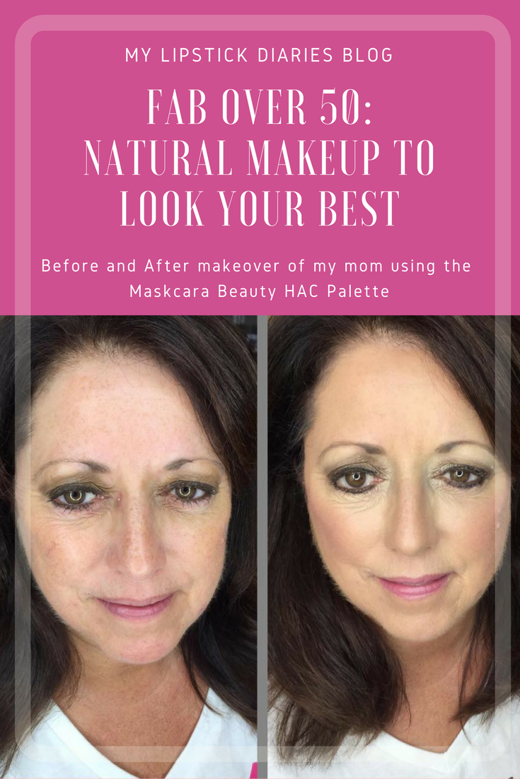 Fab over 50 : Natural Makeup Before & After with Maskcara Beauty HAC Palette