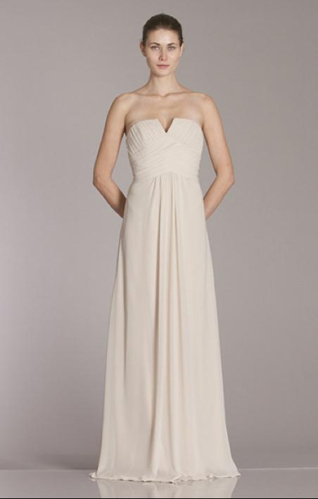 450172 Shown In Champagne Chiffon Monique Lhuillier Bridesmaids Bridesmaid Dresses