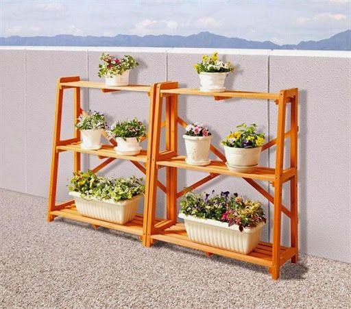 Model Rak Pot Bunga Dan Tanaman Hias Unik Dari Bahan Kayu Perhiasan Unik Hiasan Pot Bunga