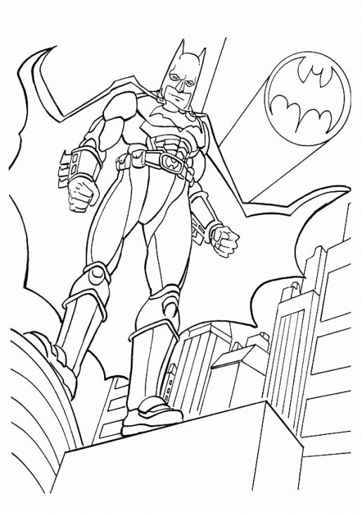 batman coloring page to print online