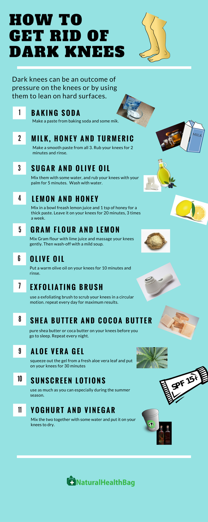 15 Painless Home Remedies to Get Rid Of Dark Knees ...