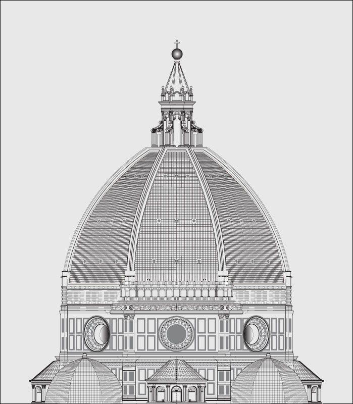 Florence Dome: B Is For BRUNELLESCHI-Dome Of