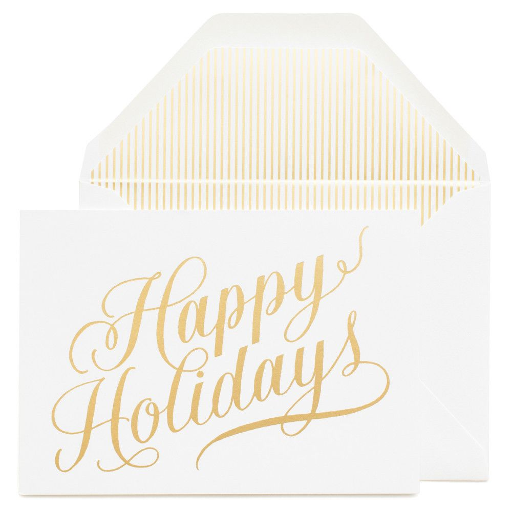 Sugar Papers Champagne Holiday Card Theholidaygiftshop The