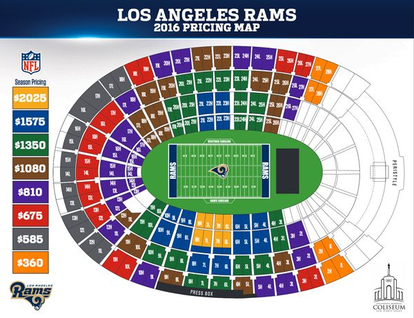 Los Angeles Rams Announce 2016 Season Ticket Prices Season Ticket Los Angeles Rams Kansas City Chiefs Tickets