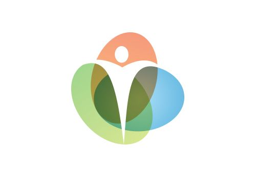 Logo Arzt Praxis Heilpraktiker Mensch Ellipsen