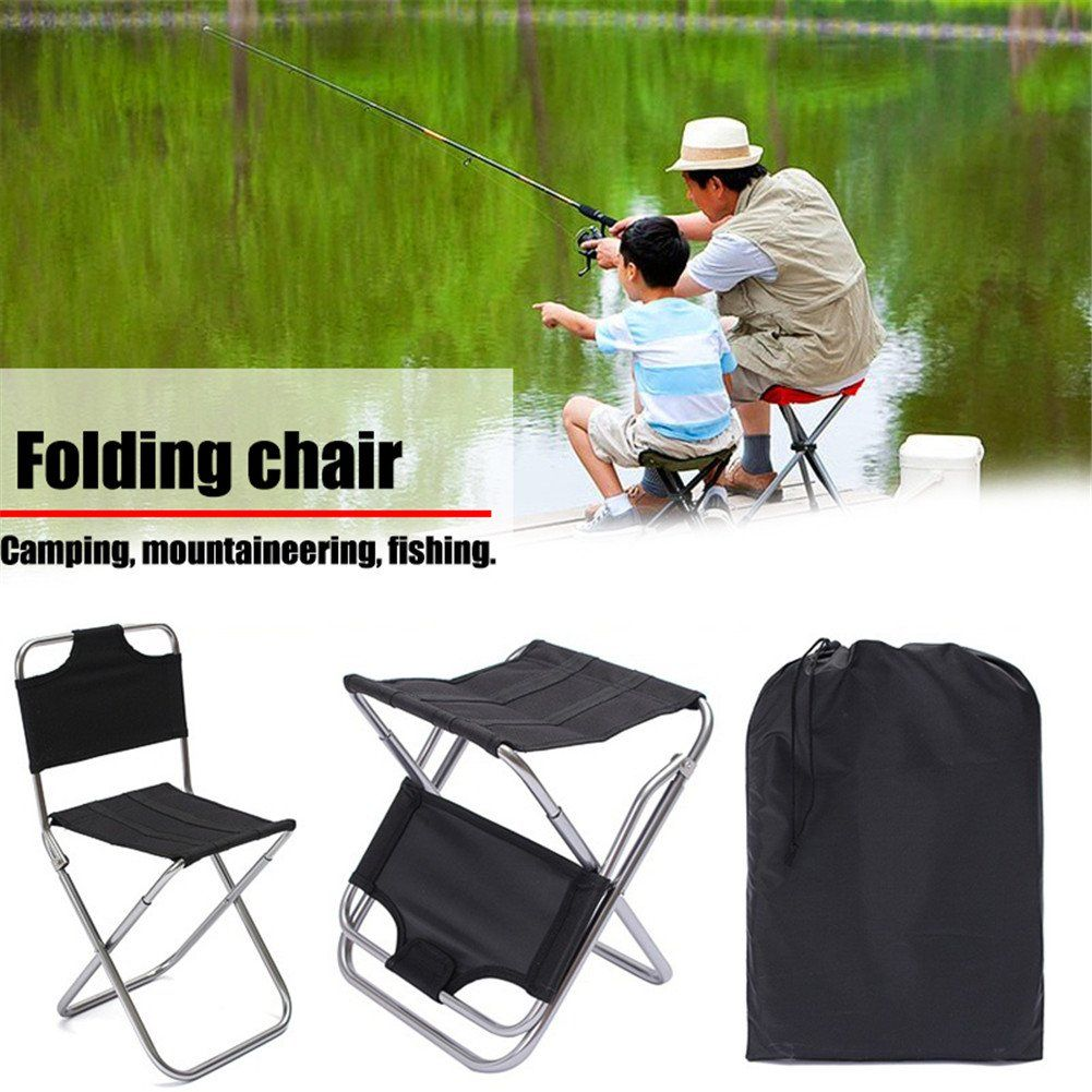 3afbd8228756 Yunhigh Portable Folding Stool with Back Aluminum Mini Fishing Chair ...